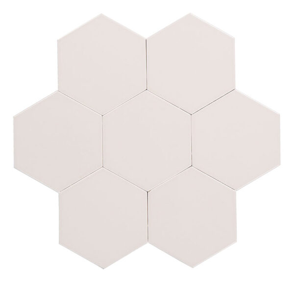 Hexagon vit är en del av färgsortimentet.