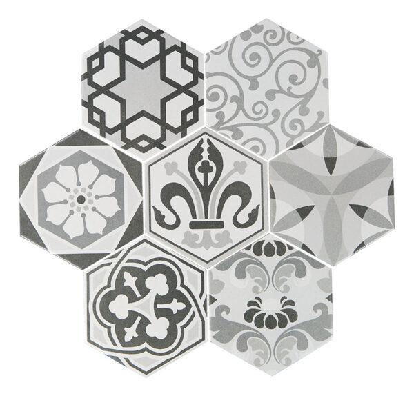 Hexatile harmony spansk klinker med rustikt mönster.